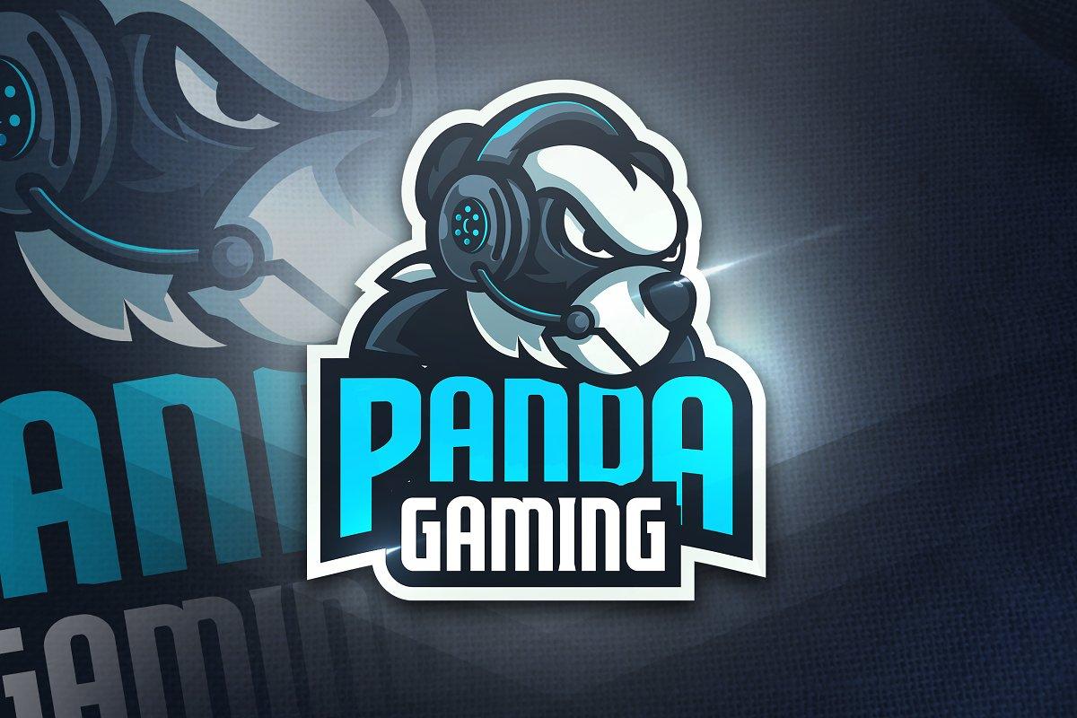 Panda Gaming Mascot Esport Logo Creative Logo Templates