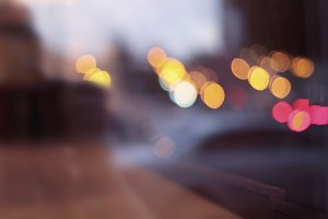 Abstract city light blur blinking