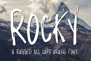 Rocky Brush Font