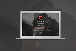 Creative Coming Soon Page Template