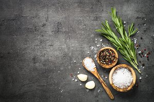 Rosemary, sea salt, garlic and peppe