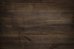 Brown dark natural wooden texture.