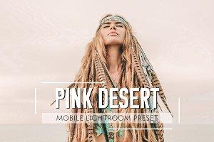 Mobile Lightroom Preset Pink Desert