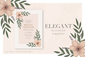 Elegant Floral Invitation Template