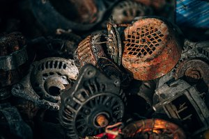 Metal Junkyard with Abandoned Parts