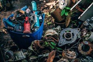 Metal Scrapyard Backyard