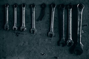 Metal Wrenches On The Wall