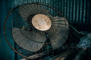 Old Abandoned Wall Fan