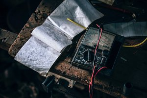 Repair Shop Notebook on Table