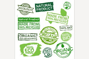 Ecology stamps set