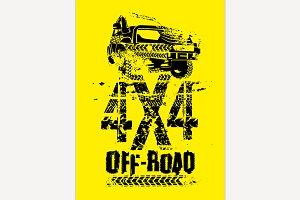 Off Road Car Emblem