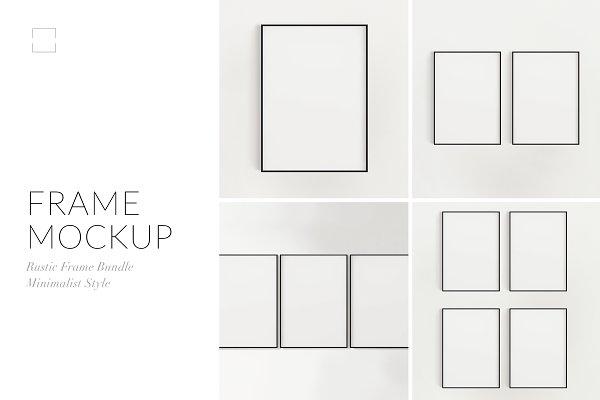 Minimalist Black Frame Mockup Bundl…