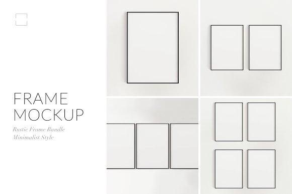 Minimalist Black Frame Mockup Bundle