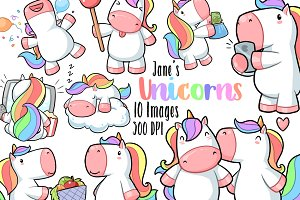 Kawaii Unicorn Clipart