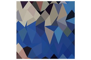 Bluebonnet Abstract Low Polygon Back