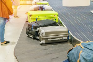 Suitcase or luggage in airport
