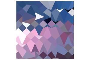 Celestial Blue Abstract Low Polygon