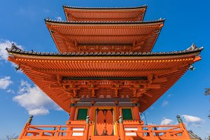 Red pagoda Beautiful architecture