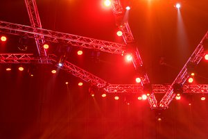 Stage lights on concert or Lighting