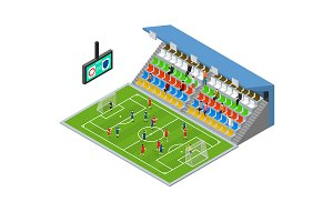 Soccer Stadium Competition Set