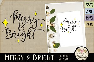 Merry & Bright Vector SVG Clipart