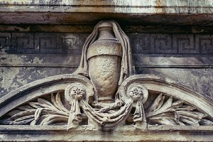 Ornament on an old tombstone