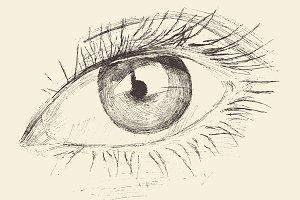 Woman eye illustration