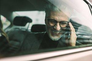 Smiling senior businessman