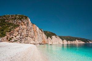 Fteri beach in Kefalonia Island