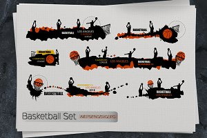 Basketball set. Sport designs.