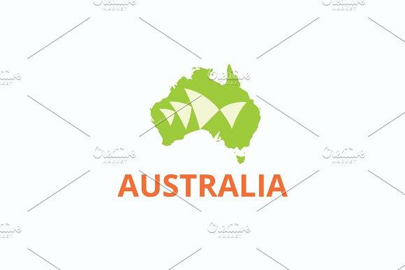 Map Of Australia Logo.Australia Logo