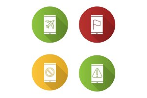 Smartphone apps icons set