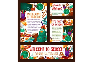 Back to School education poster