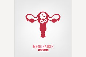 Menopause vector icon.