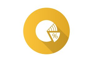 Percentage pie chart icon