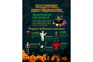 Halloween celebration poster