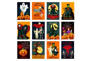 Halloween holiday cards