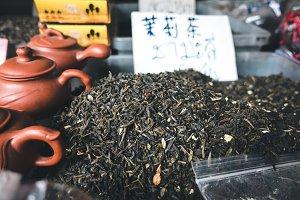 Black tea for sale at Asian market