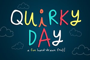Quirky Day hand-drawn font