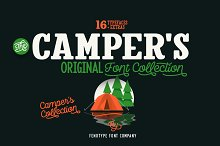 Camper Font Pack by  in Display Fonts