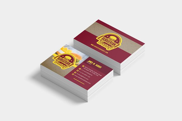 Fast food business card template business card templates fast food business card template business card templates creative daddy cheaphphosting Choice Image