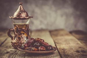 Ramadan kareem holiday concept with