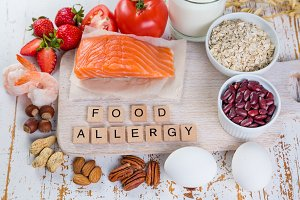 Food allergies - food concept with