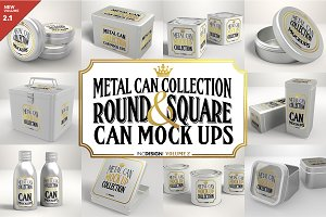 Vol2. Metal Can Mockup Collection
