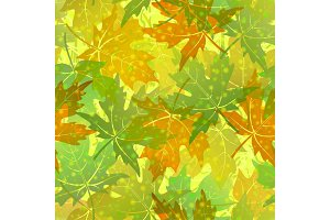 Seamless Pattern, Maple Leaves