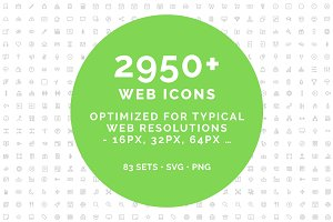 Web line icons - MEGA BUNDLE - 2950+