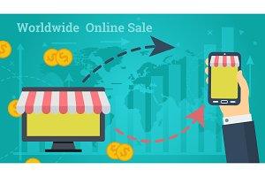 Business Banner - Worldwide Online