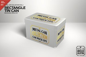 Rectangle Tin Can Mockup