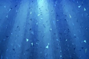 Blue geometric 3D background
