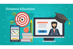 Business Banner - Distance Education